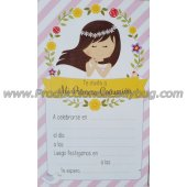 Invitacion Comunion Simple Ladybug 5x10u